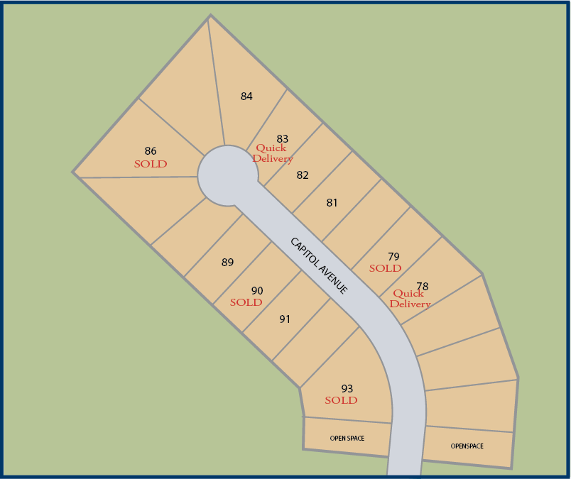 Communtiy map of Enclave at Roberts Park