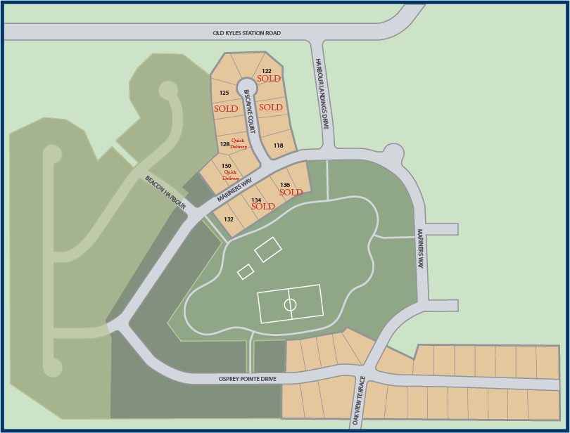 Communtiy map of Harbour Towne Park