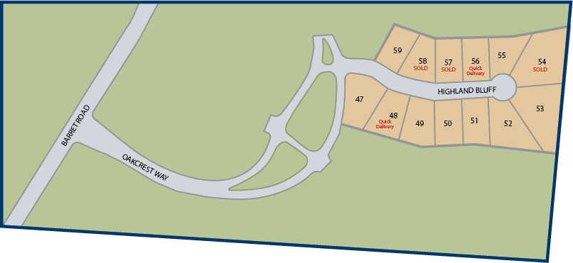 Communtiy map of Oaks of West Chester
