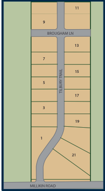 Communtiy map of Carriage Crossing