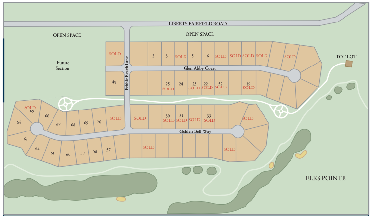 Communtiy map of Reserve at Elks Pointe