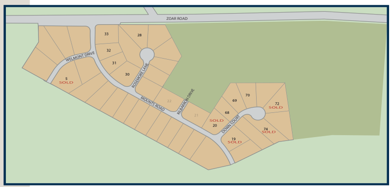 Communtiy map of Wellington Estates